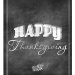Happy Thanksgiving Chalkboard Art