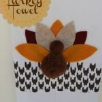 No Sew Stenciled Turkey Towel