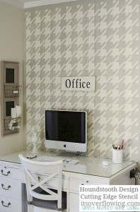 Stenciling-Wall-Houndstooth-ItsOverflowing