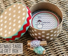 #Chirstmas Tags and box by eighteen25 on iheartnaptime.net