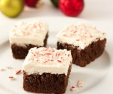 #Peppermint Brownies with Peppermint Buttercream Frosting by Cooking Classy on iheartnaptime.net