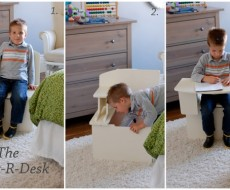 Chest-R-desk -turn your chair into a desk. Perfect for Pre-school age kids!