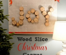 #DIY #wood slice canvas by East Coast Creative on iheartnaptime.net