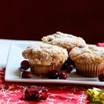 #Crumb Topped Cranberry Eggnog Muffins by Inspired By Charm on iheartnaptime.net
