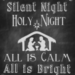 silent night chalkboard sign