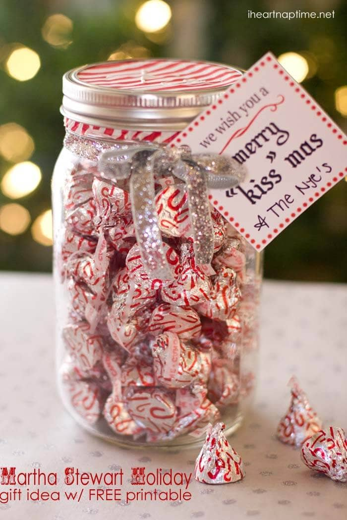 "Merry ""kiss"" mas gift idea w/ FREE printable - I Heart Nap ..."