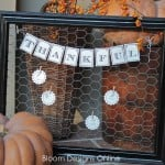 thankful chicken wire frame