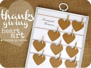thanksgiving heart art