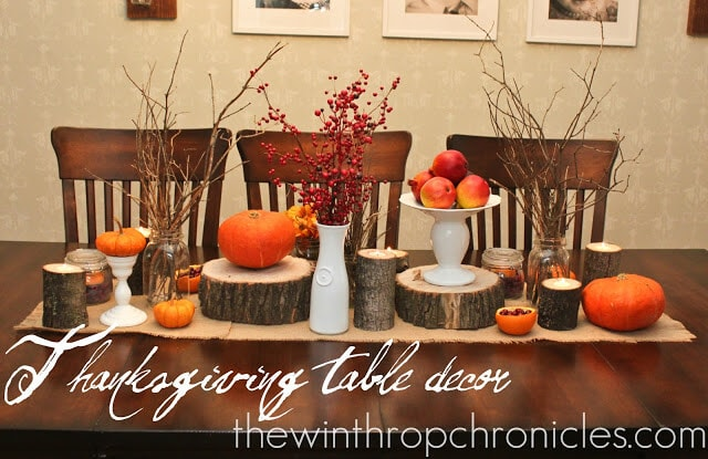 Thanksgiving Table Decor from The Winthrop Chronicles