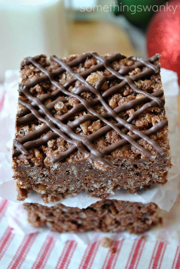 Hot chocolate 3 Musketeer Rice Krispie Treats by Something Swanky on ...