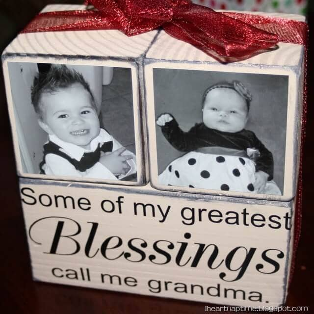 25 gift ideas on iheartnaptime.com -create photo blocks for grandma!
