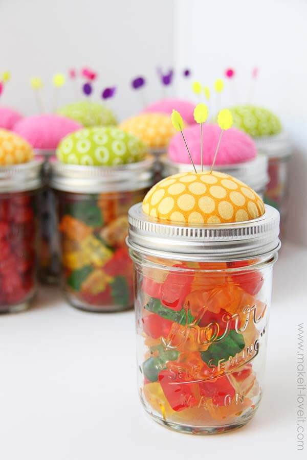 Iheartnaptime com make a pin cushion jar for a simple and cute t