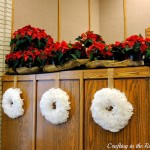 Christmas coffee filter wreaths