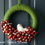 Christmas wreath yarn wrapped