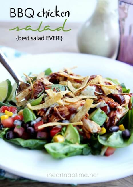 BBQ chicken salad from iheartnaptime.net