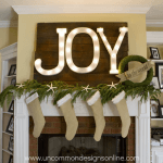 Joy to the world mantel