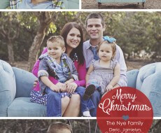 Merry Christmas from The Nye Family iheartnaptime.com