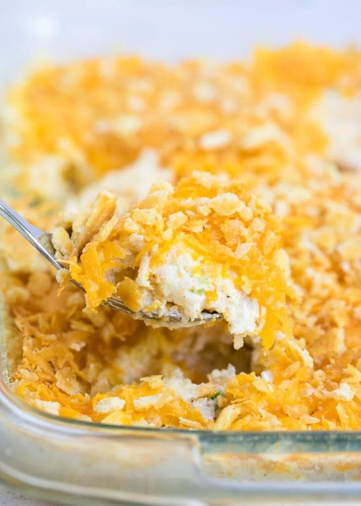 My Favorite Recipe For Cheesy Potatoes Aka Funeral Potatoes Or Cheesy Potato Casserole This Dish Is So Comforting Always A Crowd Pleaser And Perfect For