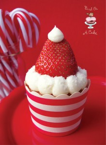 Strawberry Santa Hat Cupcakes 2 logo