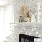 calm and cozy christmas mantel