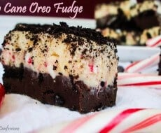 candy cane oreo fudge