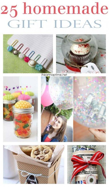 25 homemade gift ideas on iheartnaptime.com -this is a must see list! So many great ideas!