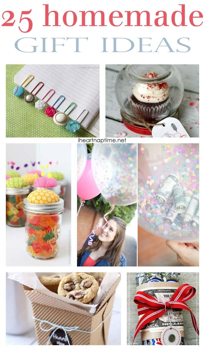 25 fabulous homemade gifts i heart nap time 25 homemade gifts solutioingenieria Image collections