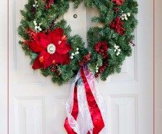 Simple and cute DIY #Christmas #wreath on iheartnaptime.net