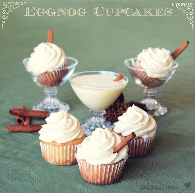 Delicious eggnog cupcakes from iheartnaptime.net