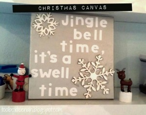 jingle bell canvas