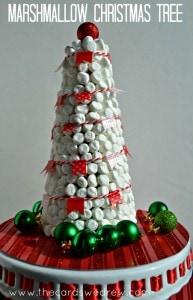 marshmallow christmas tree thecardswedrew
