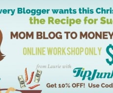 Mom Blog Money Blog workshop