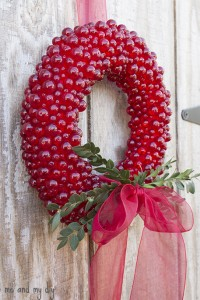 red beaded wreath