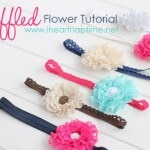 Ruffled flower tutorial on iheartnaptime.com ....these are super easy and cheap to make. #DIY