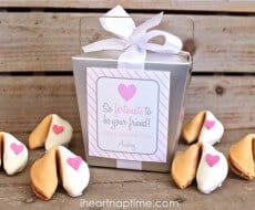 Valentine Fortune Cookies free printable on iheartnaptime.com