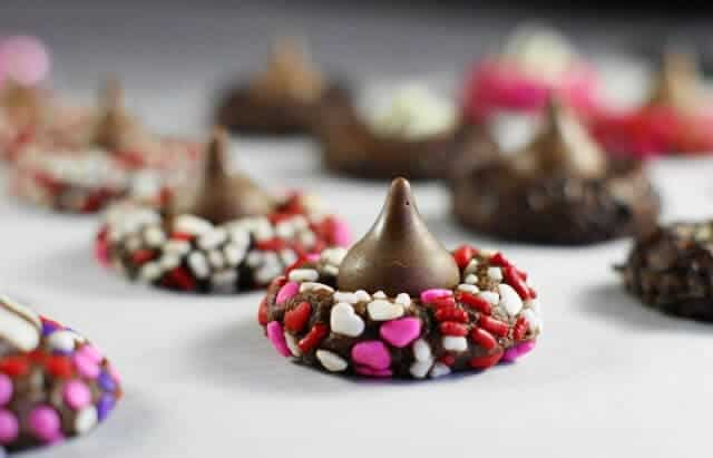 Chocolate Valentine Kiss Cookies 2