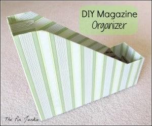 DIY Magazine Organizer