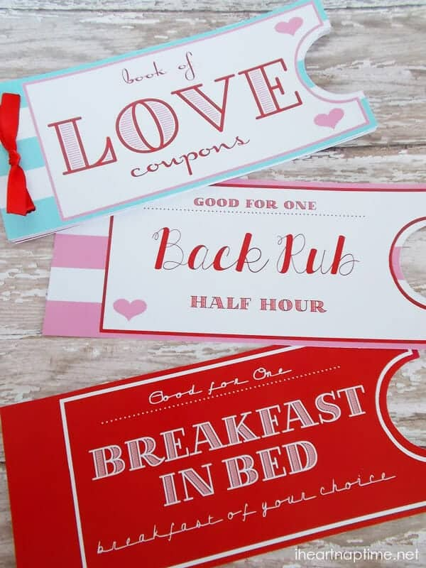 ticket Valentines day printables
