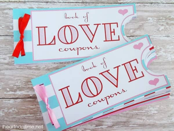 Printable Love Coupon Book  The Perfect Valentineu0027s Day Gift!  Homemade Gift Vouchers Templates