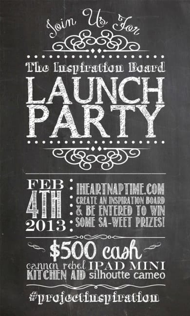The Inspiration Board launch party on iheartnaptime.com
