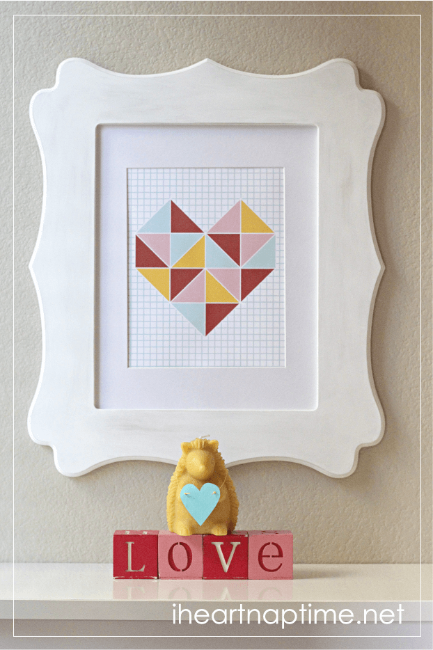 Free Colorful Valentine Wall Print