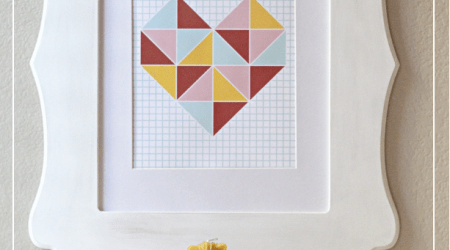 Free Triangle Valentines Wall Art