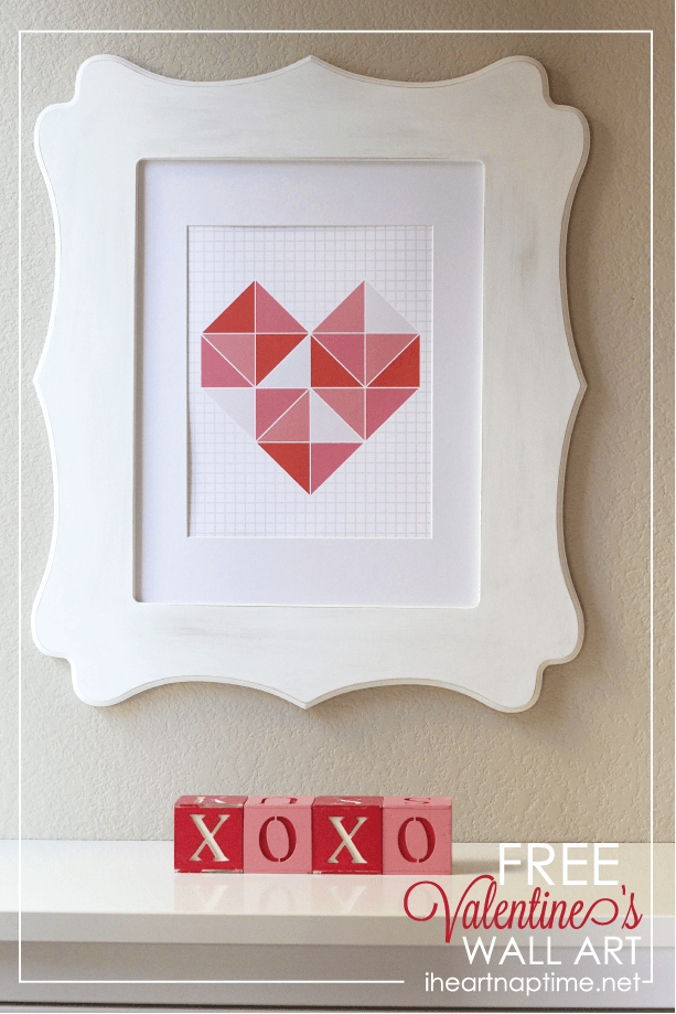 Free Valentines Wall Art on iheartnaptime.com
