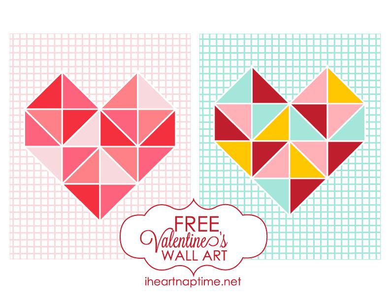 Free Valentines wall art at Iheartnaptime.net