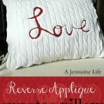 Love Reverse Applique Pillow Collage