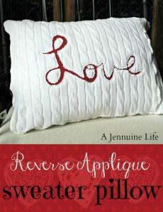 Love Reverse Applique Pillow Collage