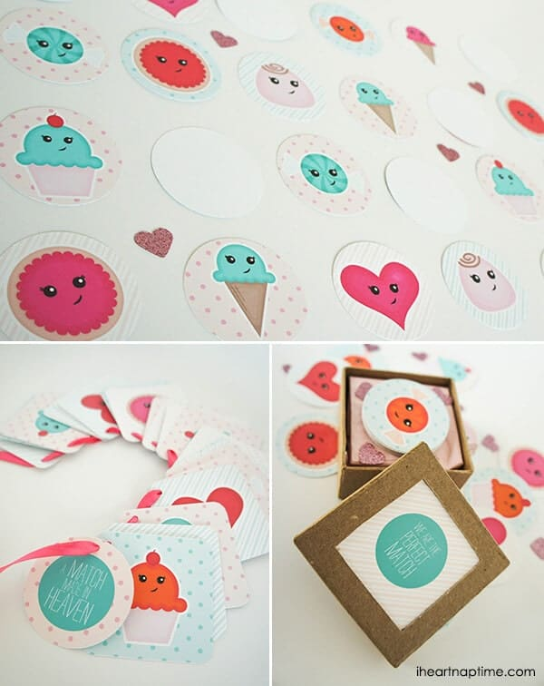 The Perfect Match Valentine Printables