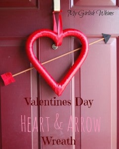 Valentines Day Heart & Arrow Wreath