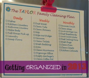 cleaning plan