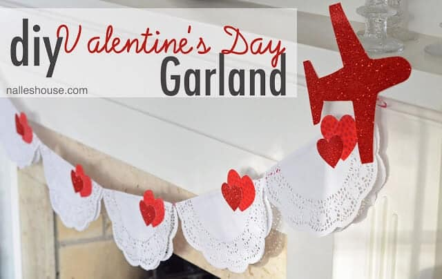 diy valentine's garland